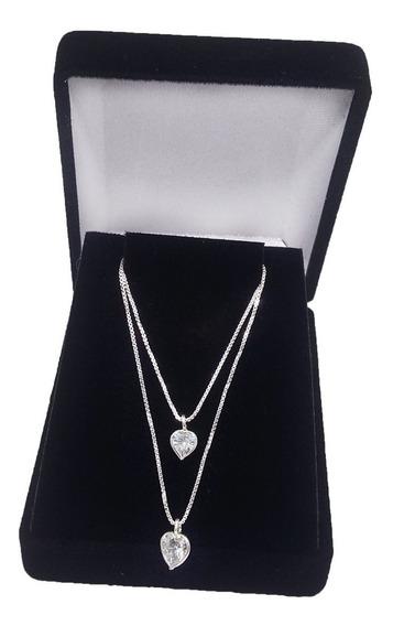 Colar Gargantilha Feminina Coração Prata Maciça 925