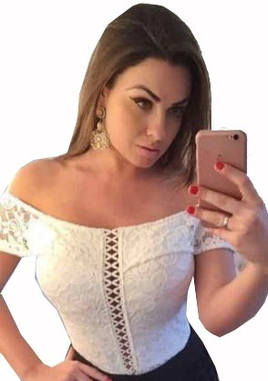 Body Blusa Renda Guipir Tule Rendada Importado Feminino