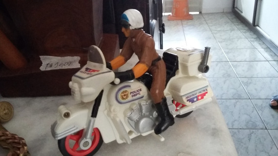 Motocicleta Policial De Brinquedo Antigo