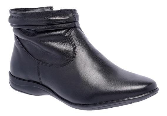 Bota Feminina Cano Curto Flat Couro Leg. Sb Shoes Ref. 250