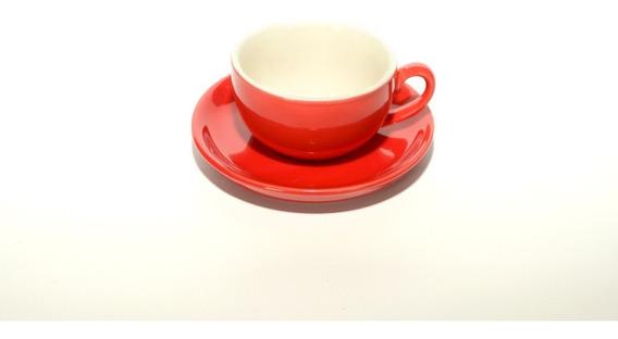 Taza Y Plato De Colores Ideal Arte Latte 180 Ml - Linea Oslo