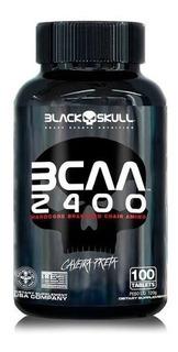 Bcaa 2400 100 Tabletes - Black Skull - Importado