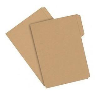 100 Pzs Folder Ecologico Papel Tipo Kraft Tamaño Carta