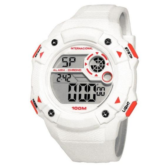 Relógio Technos Inter Oficial Branco E Vermelho Int1360/8b