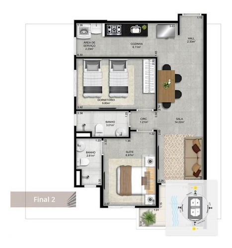 Imagem 1 de 2 de Apartamento - Venda - Forte - Praia Grande - Mgq384