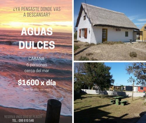 Cabaña Para 6 Personas Fresca Cerquita Del Mar