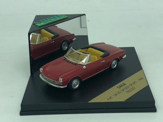 Fiat 124 As Spide Sport 1966 Rosso 1966 1:43 Vitesse