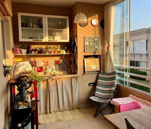 Imagem 1 de 11 de Apartamento Com Varanda Gourmet - 72m² - 2 Dormitórios - Ap0220
