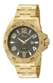 Relógio Condor Masculino Dourado Co2315az Grande Analogico