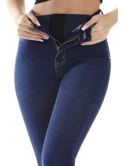 Calça Sawary Jeans Cintura Alta Com Elastano Super Lipo