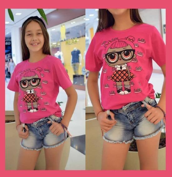 Blusa Camiseta Manga Curta 100% Algodão Roupas Infantil