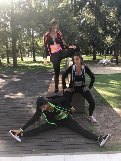 Conjunto Calza, Top Y Campera Nike De Mujer Original