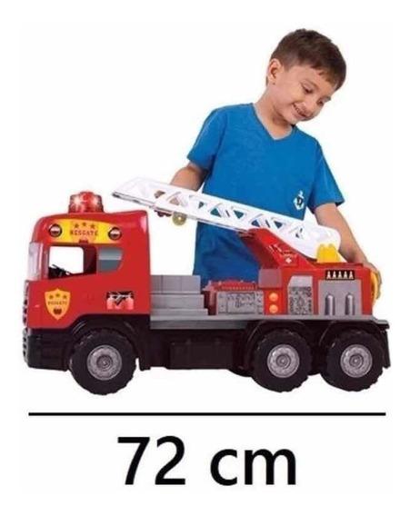Caminhão Bombeiro Sirene Com Som E Luz 5056-magic Toys