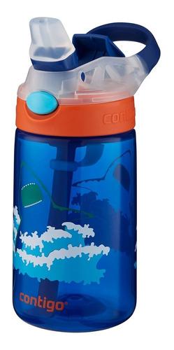 Garrafinha Squeeze Infantil Contigo 414ml Azul Tubarão