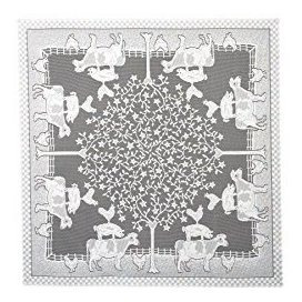 Heritage Lace Fh4242w Blanco 42 Farm Table Table Topper