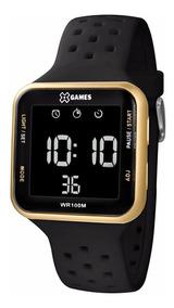 Relógio X-games Unissex Digital Xgppd093 Dourado Negativo