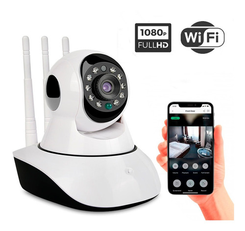 Cámara De Seguridad Ip Wifi Full Hd 1080 Movimiento Icsee