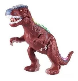 Dinossauro Rex Com Som Luz E Movimento 35cm Grande