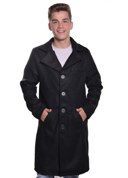Sobretudo Casaco Masculino Modelo Longo Estilo Trench Coat