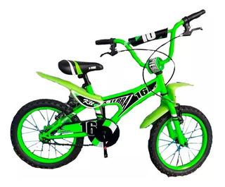 Bicicleta Nene X-terra Klt Rodado 16 Verde - Racer Bikes