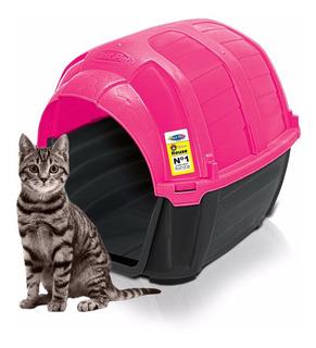 Casa Cama Gato Plast Pet Stone House No.1 Rosa Envío Gratis