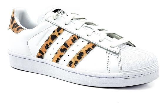 adidas Supertar W Blanco/leopardo Mujer/remate De Bodega