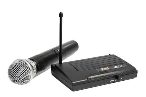 Microfone Sem Fio Uhf Profissional Jwl U-8017 Bastão