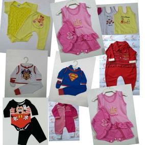 Roupinhas Roupas Para Bebês Lote Com 10 Macacão Body+calça