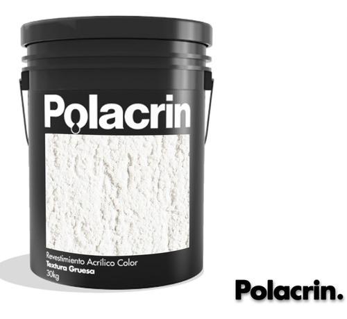 Pintura Revestimiento Polacrin 25 Kg Textura Blanco Gruesa