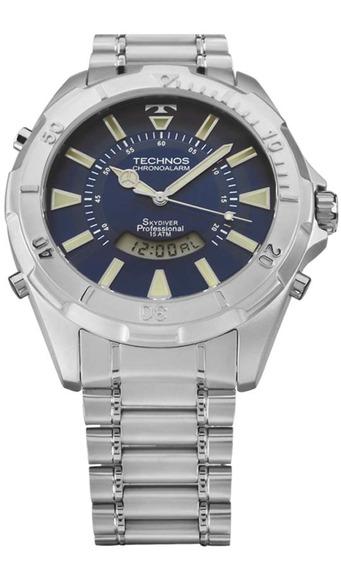 Relógio Masculino Prata Skydiver Technos T205fm/1a Barato