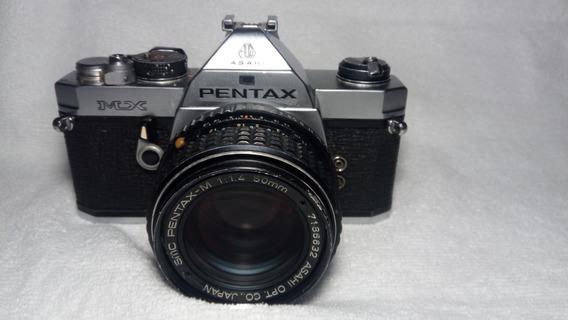 Pentax Mx Revisada Com Pentax-m 50mm F/ 1.4