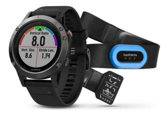 Relógio Multiesportivo Garmin Fenix 5 Cinza Com Monitor Ca