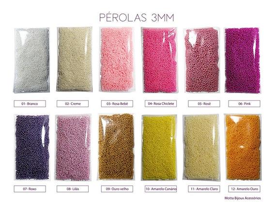 Perola Abs Inteira C/furo 3mm 4000 Perolas - Menor Preço