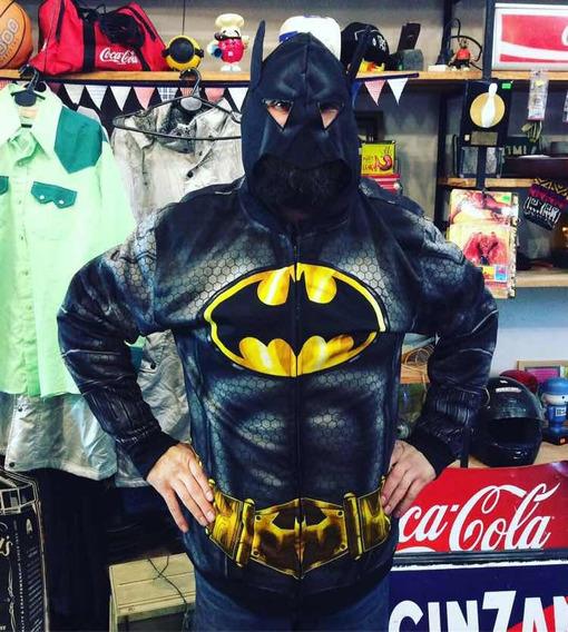 Buzo Campera Disfraz De Batman Talle Xl Hombre Con Mascara