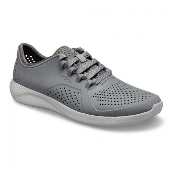 Tênis Crocs Literide Pacer Charcoal Light Grey