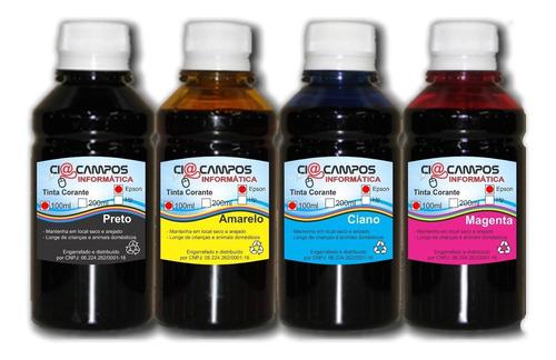 Tinta Comestível Papel Arroz Para Epson - 4 Cores 250ml Cada