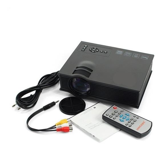 Mini Projetor Led Profissional Wifi Uc46 + 1 Cabo Hdmi 10m