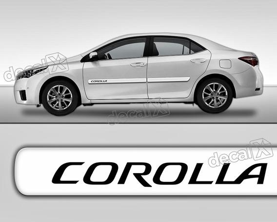 Par Escrita Friso Adesivo Lateral Toyota Corolla