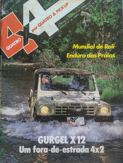 Revista 4x4 Nº29 Abril 1986 Teste E Poster: Gurgel X12