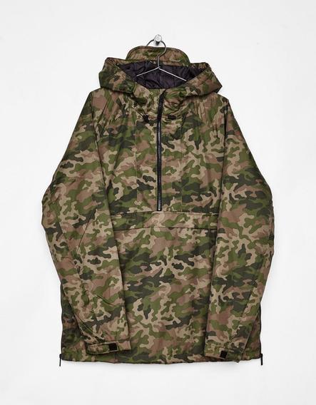 Chamarra Verde Militar Con Gorro Jacket Camuflaje Ma
