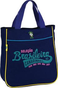 Bolsa Shopping Bag/tote Selecao Canarinho Md 1bolso So Un