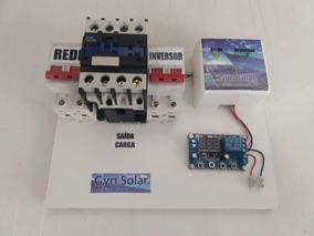 Sistema Transferência Automático Solar Disjuntor 32a 110v