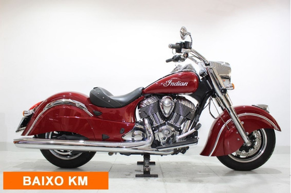 Indian Chief Classic 2016 Vermelha Baixo Km