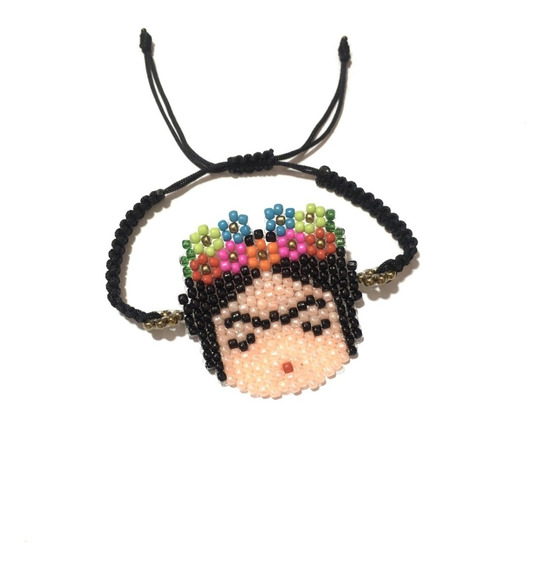 Pulsera Frida Kahlo Chaquira Accesorios Huichol Moda Miyuki
