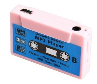Reproductor Mp3 Cassette Sin Usb, Audifonos No Micro Sd Rosa