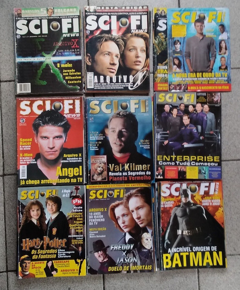 Lote Revistas Sci-fi News 70 Edições
