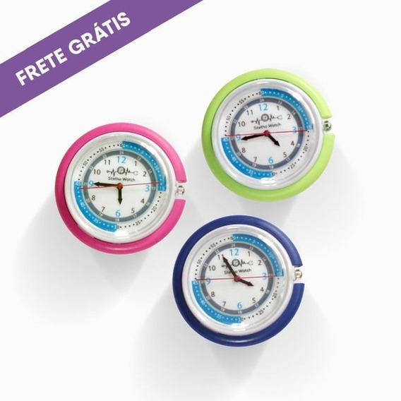 Relógio P Estetoscopio, Frete Grátis! 2 Unids, Bateria Extra