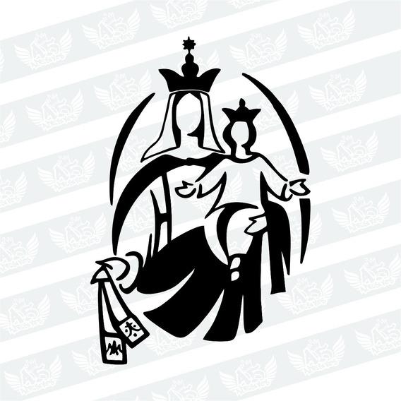 Adesivo Santa Maria E Menino Jesus Para Carro, Moto, Etc
