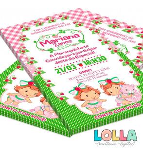 Convite Moranguinho Baby No Mercado Livre Brasil