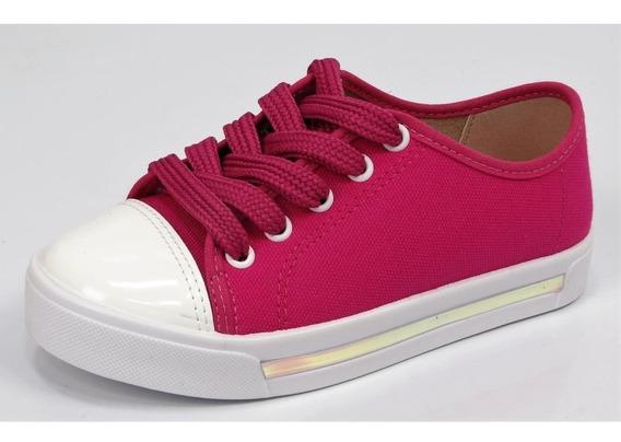 Tênis Molekinha Pink Lona/verniz Ref. 2524.316